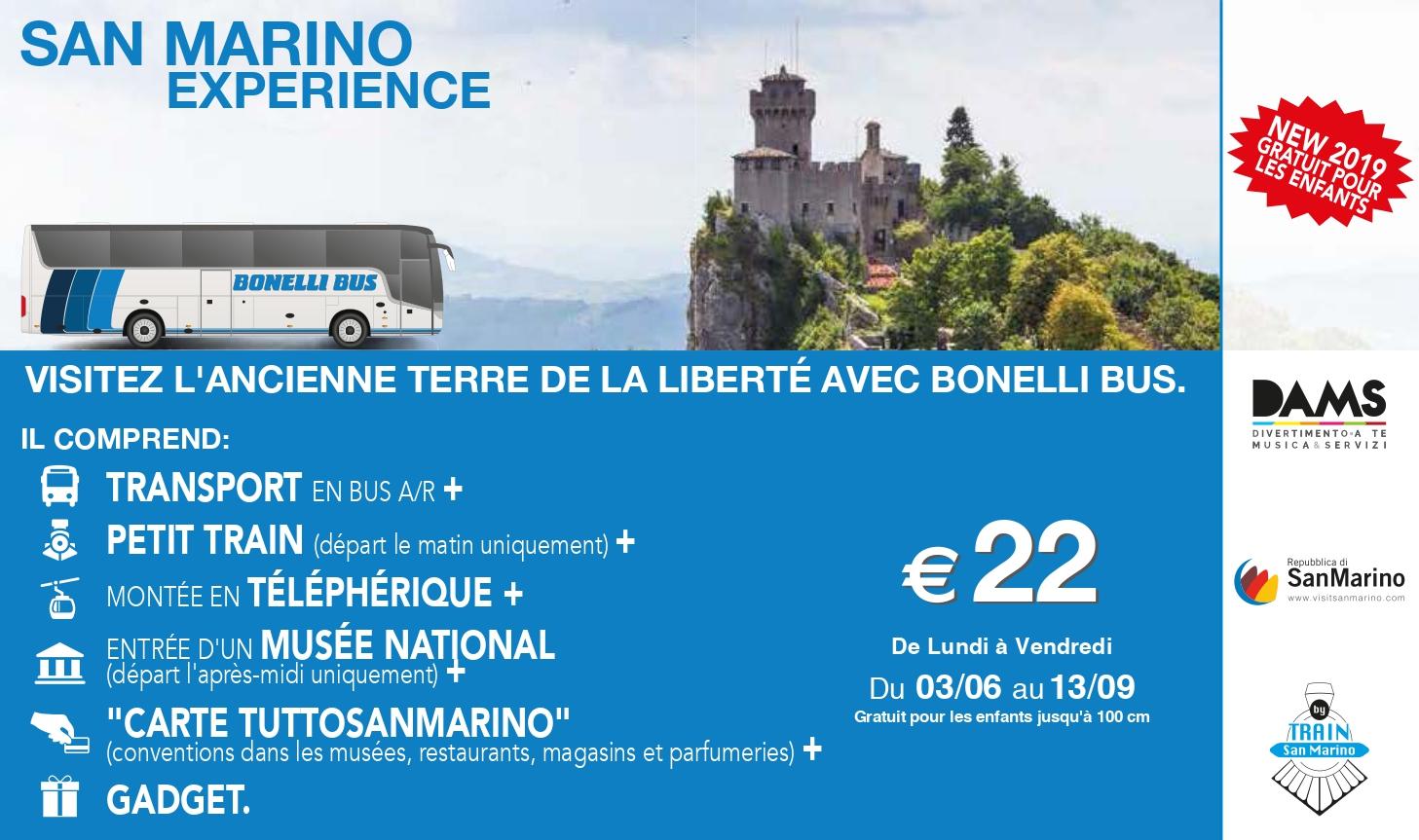 Saint Marin experience bus