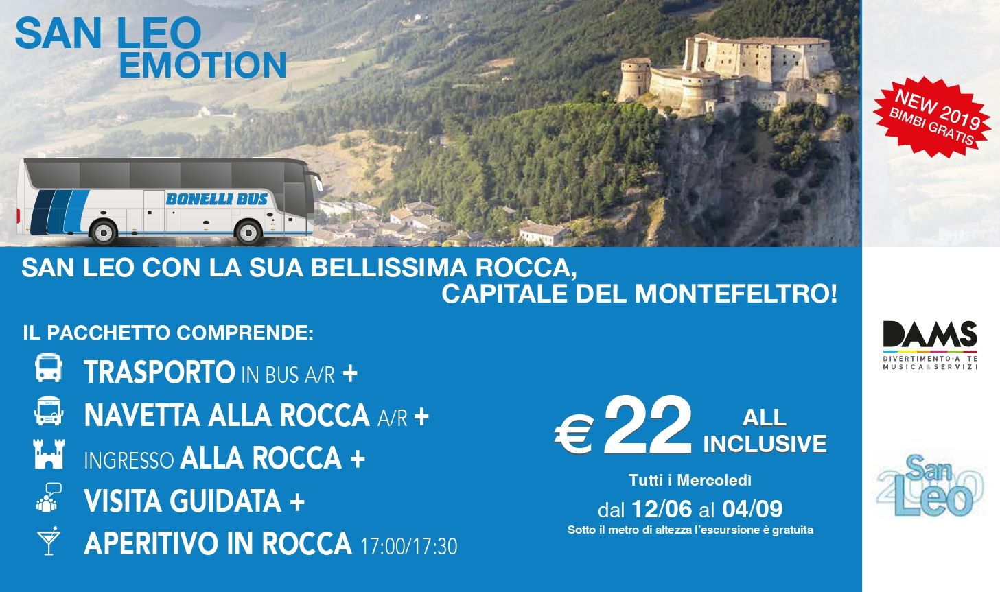 San Leo Experience - Bus Rimini San Leo