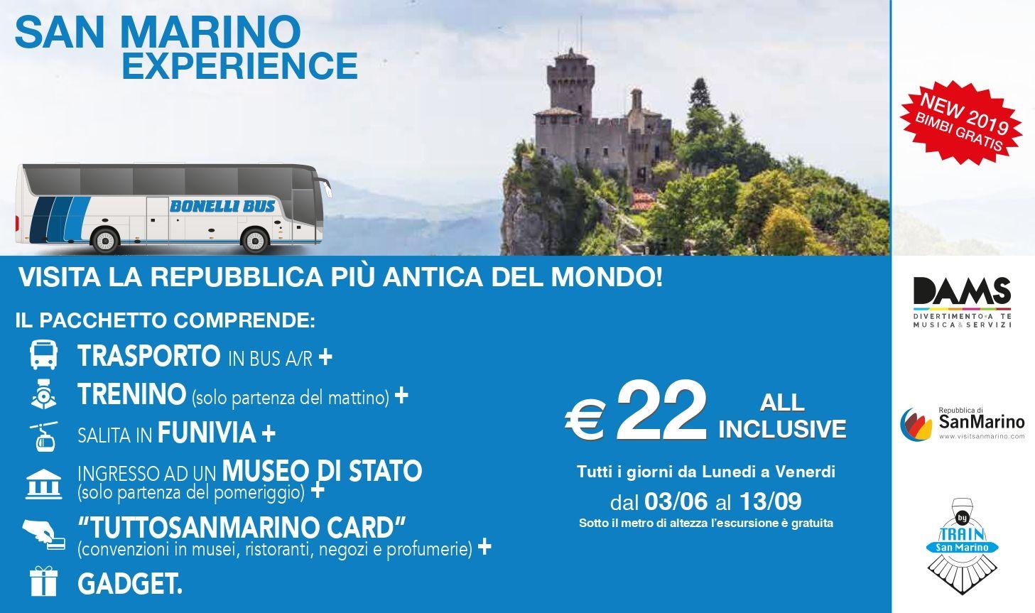 San Marino Experience - Bus Rimini San Marino